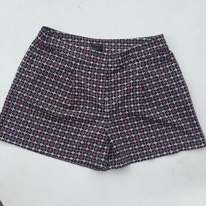 Ann Taylor modern print chino shorts